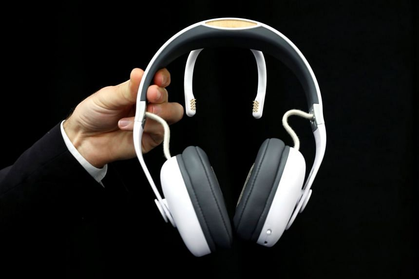"""A Melomind headset is a """"neurofeedback"""" device with sensors that detect brain activity and help the wearer control stress and improve relaxation through exercises."""