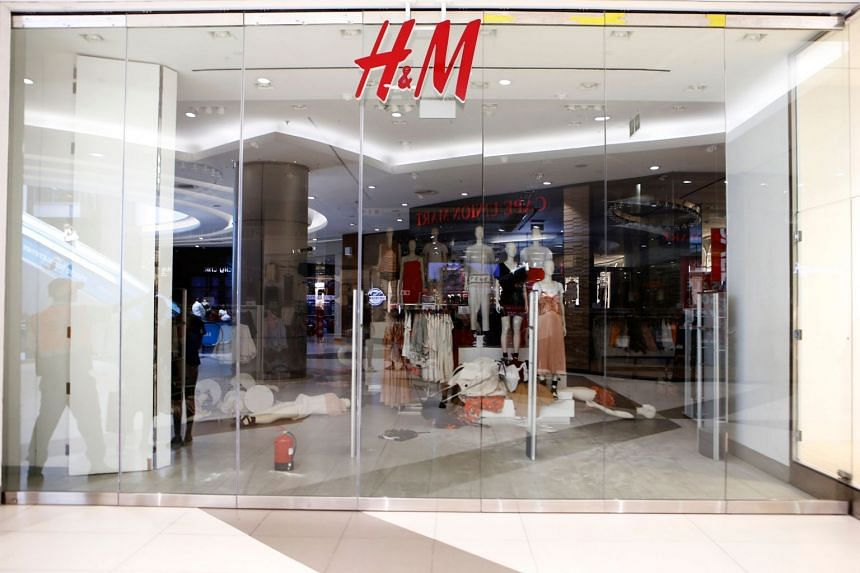 An H&M store at the Sandton City shopping mall in Johannnesburg, after members the Economic Freedom Fighters opposition party stormed the store in protest of a alleged racist slogan printed on a hoodie.