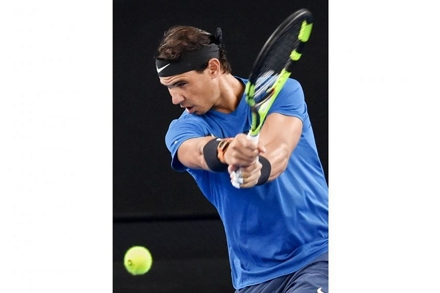 In his bid to shake off the rust before his Australian Open first-round match against Dominican Victor Estrella Burgos, world No. 1 Rafael Nadal of Spain played a surprise practice match against fifth-ranked Dominic Thiem of Austria at Melbourne Park
