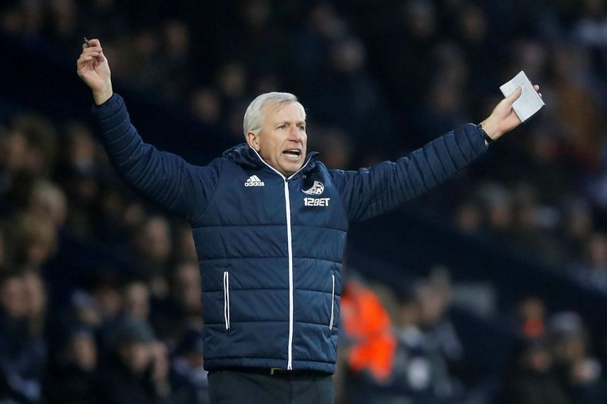 West Bromwich Albion manager Alan Pardew during the match.