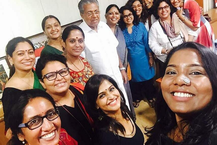 Members of the Women in Cinema Collective with Mr Pinarayi Vijayan, Chief Minister of Kerala state. The group came into being in the wake of a popular actress being sexually assaulted.