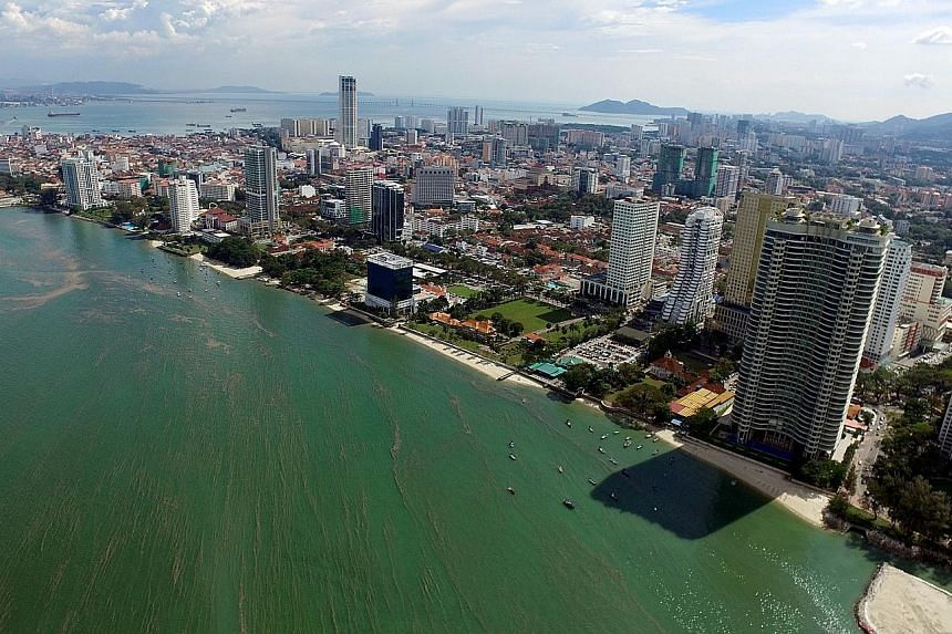 Penang's Gurney Drive waterfront, where Malaysia's first undersea tunnel has been planned as part of a mega project. There are allegations that a feasibility-study fee linked to the plan has been grossly inflated.