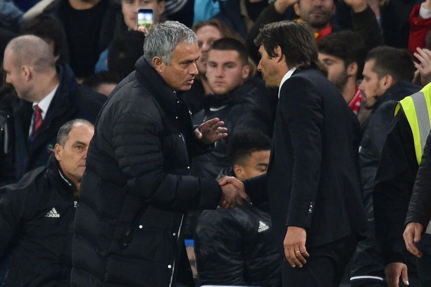 Manchester United manager Jose Mourinho (left) has decided to end his long-running war of words with his Chelsea counterpart Antonio Conte.