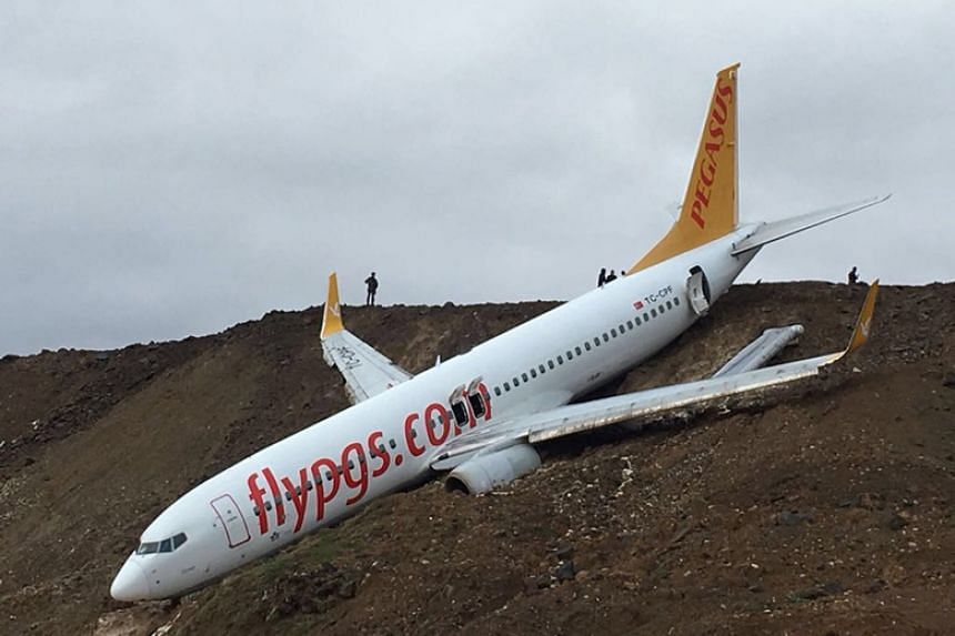 The flight had taken off smoothly from Ankara and landed in Trabzon, but skidded off the runway in the northern airport.