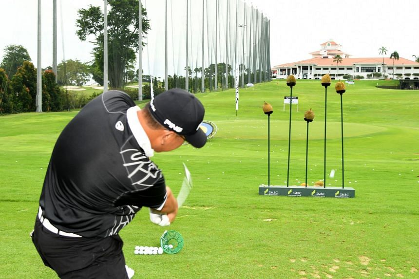 Attendees enjoying themselves at the Discover Golf Carnival at Sentosa Golf Club on Sunday (Jan 14).
