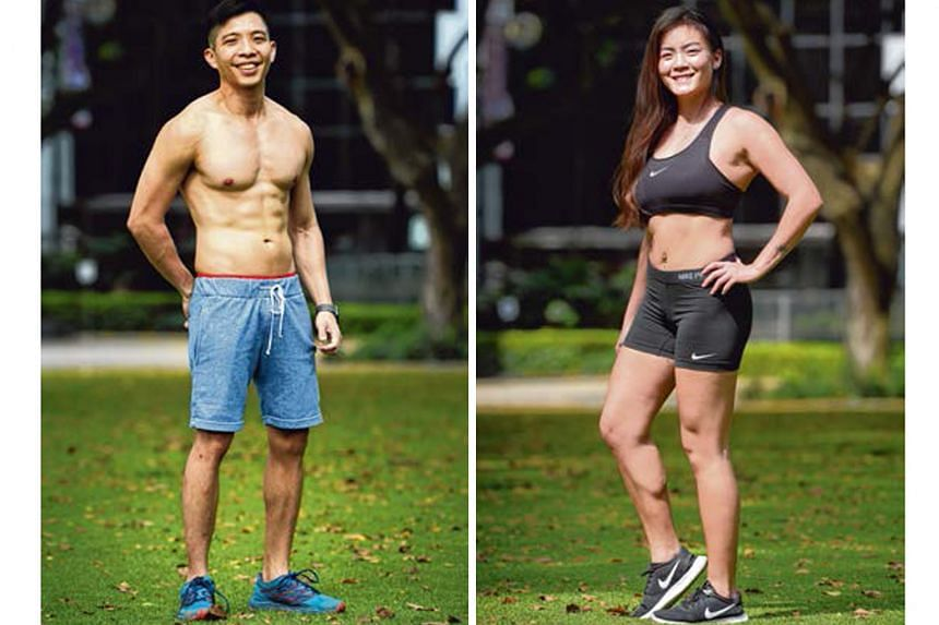 From left: Gerald Tan and Mishel Teo
