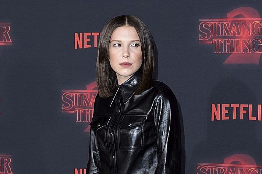 Actress Millie Bobby Brown (above), 13, at the premiere of Stranger Things 2 in Westwood, California, last year.