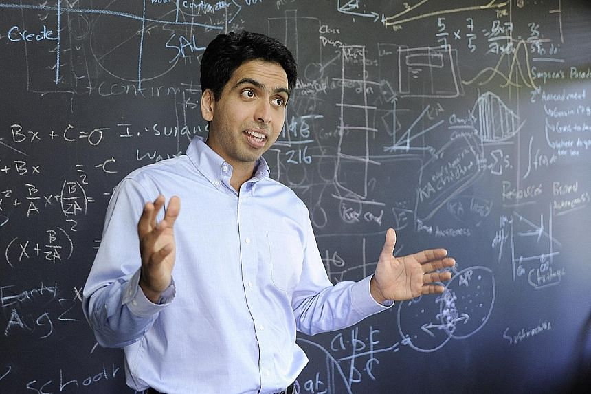 """Mr Sal Khan calls his school a """"lab"""" school because it aims to question set norms and practices in education."""