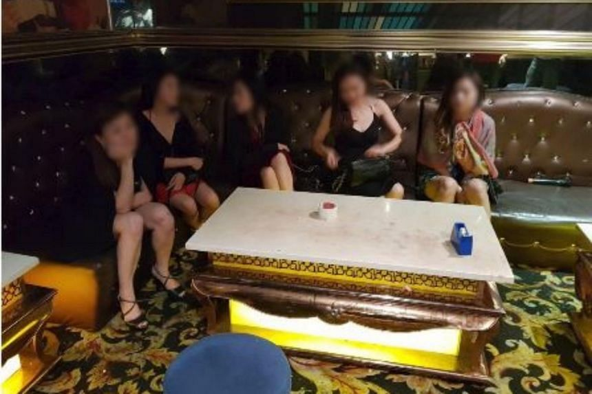 Three women were arrested for appearing nude in a public place, two of whom were also arrested for employment and immigration-related offences.