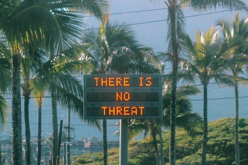 """The false alarm was attributed to a worker who had inadvertently """"pushed the wrong button"""" during a shift change at Hawaii's emergency command post."""