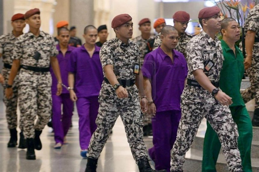 The nine Filipino men were given the death sentence for waging war against the Malaysian King during the 2013 assault on Lahad Datu in Sabah.