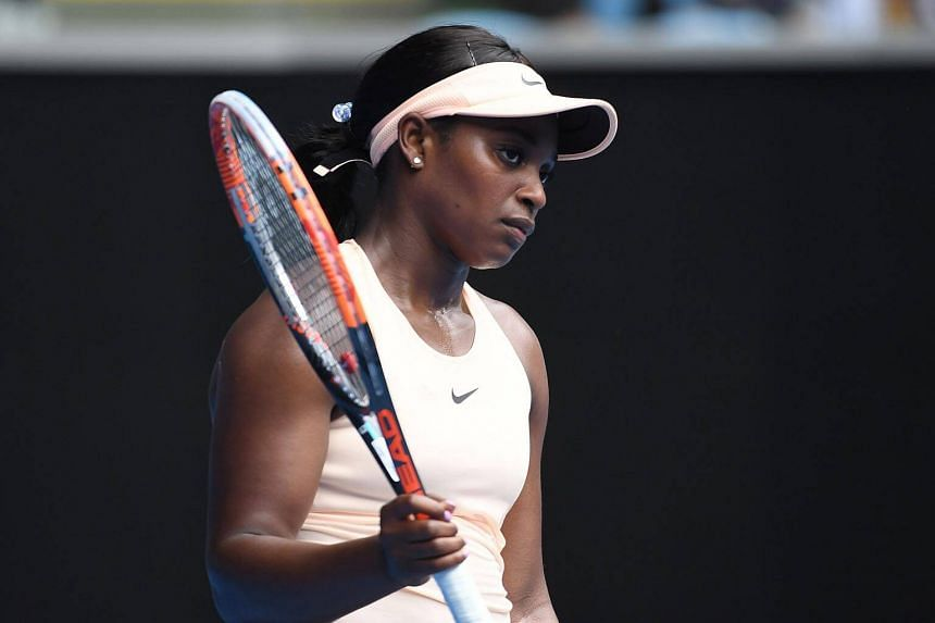 US Open champion Sloane Stephens was the first big-name casualty of the Australian Open, crashing out to Zhang Shuai in an error-strewn performance.