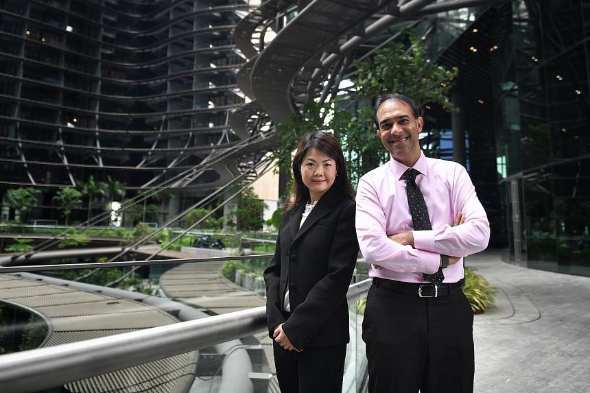 M+S chairman Mohamed Azman Yahya (right) with M+S CEO Kemmy Tan.