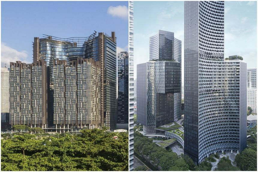 Marina One (left) in Marina Bay and Duo in Bugis.