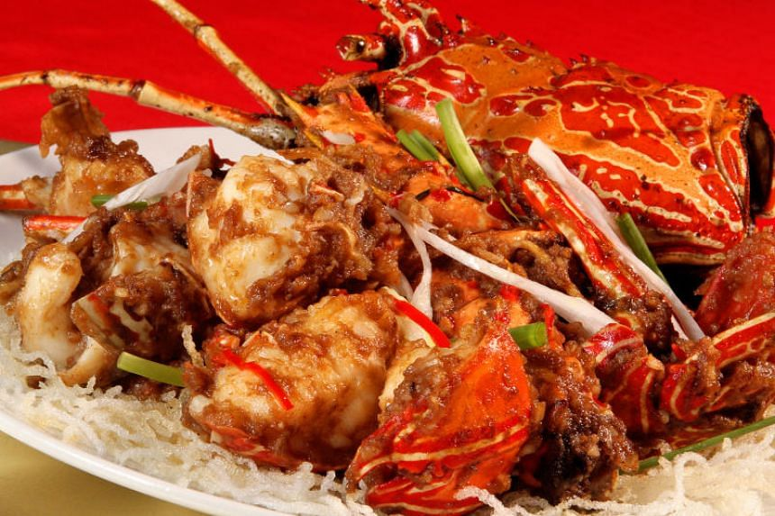 A dish of white pepper lobster.