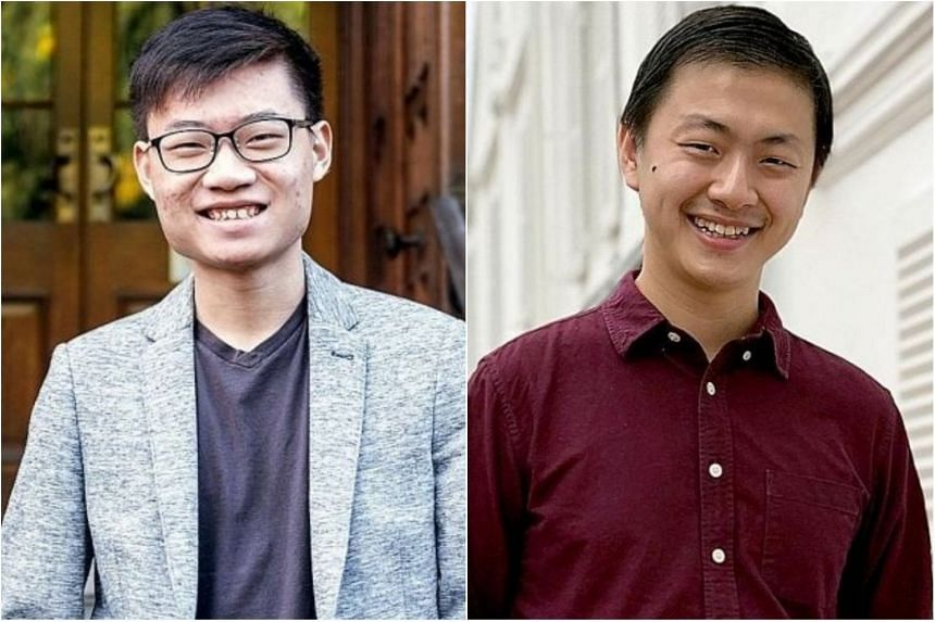 Mr Mock Yi Jun (left), 20, has met ambassadors from Asia and US at youth leader conventions, attended United Nations youth forums, and organised webinars on environmental sustainability, while Mr Oon Tian Sern, 25, was inspired by his own experiences