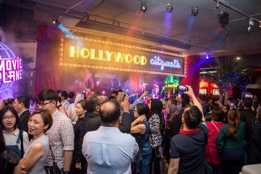 Guests at the fun-filled Hollywood City Walk, one of the attractions at Movie Planet.