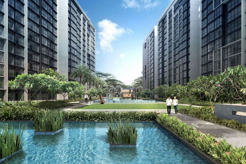 An artist's impression of the 660-unit Symphony Suites in Yishun. About 50 units were sold at Symphony Suites in December 2017.