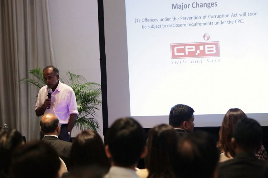 Minister for Home Affairs and Law K. Shanmugam speaking at the Modernising Criminal Justice: New Developments in Criminal Procedure dialogue with laywers on Jan 15.