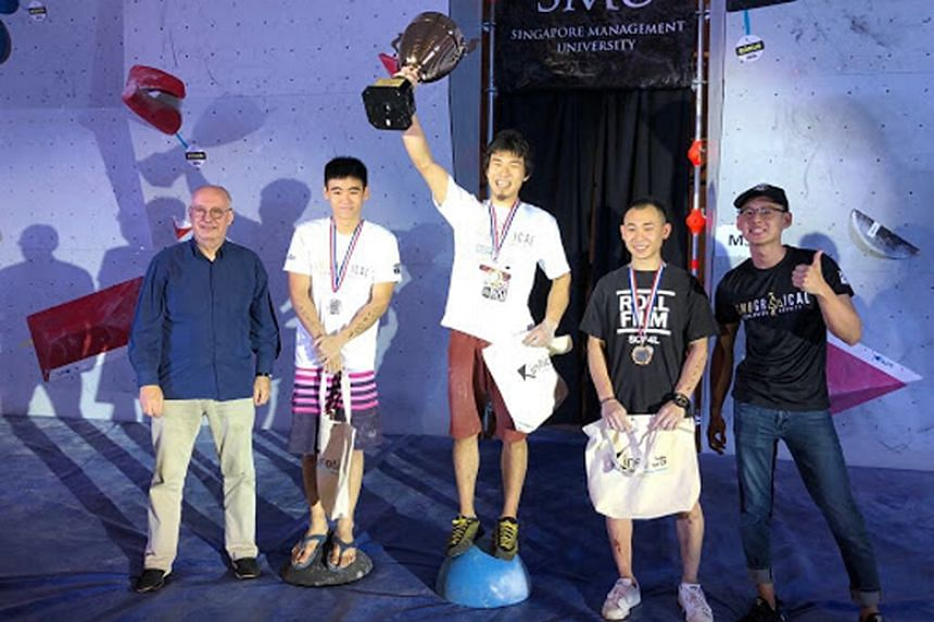 Japanese Rei Sugimoto came in first in the men's open category, while Asher Gavin and Dennis Chua finished second and third respectively at the Singapore Management University Gravical event on Jan 15.