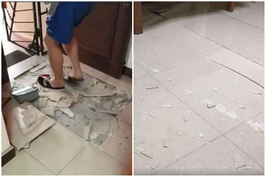 Several residents have complained about dislodged tiles in their homes, which some attributed to the cooler weather.