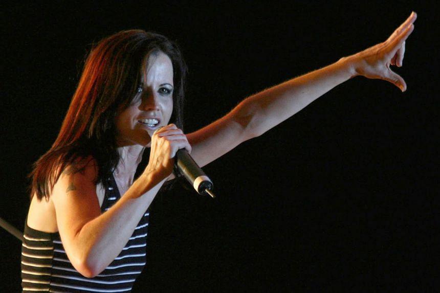 Irish singer Dolores O'Riordan performing at a concert in Tirana in 2007.