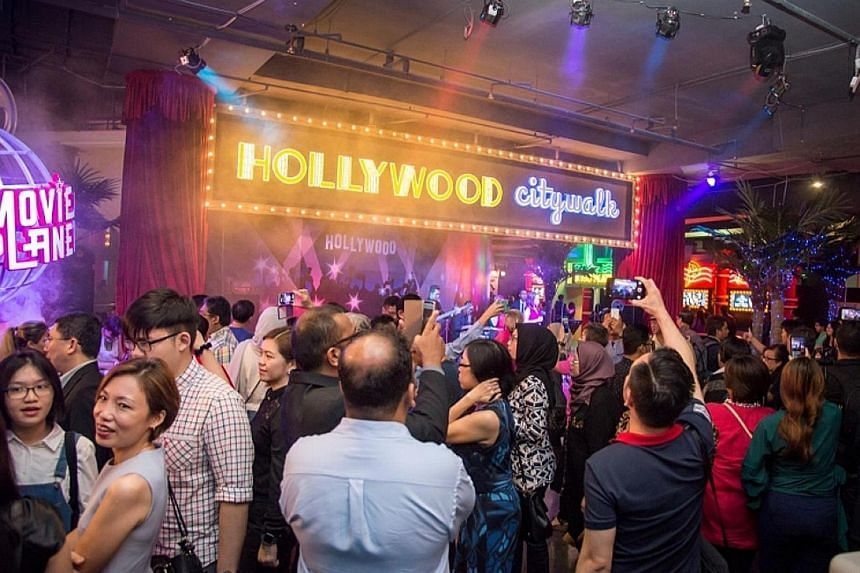 Guests at the Hollywood City Walk, an attraction at Movie Planet, one of the highlights at Capital World's theme park. Several key attractions were introduced at the official launch of Malaysia's biggest indoor theme park concept last Saturday.