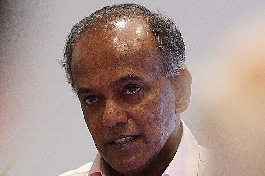 MINISTER FOR HOME AFFAIRS AND LAW K. SHANMUGAM