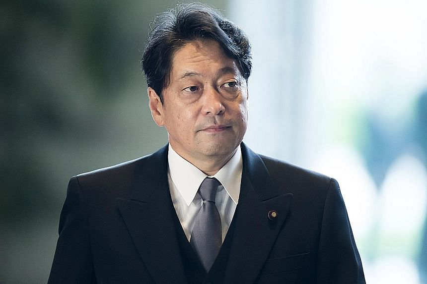 """Japanese Defence Minister Itsunori Onodera (above) yesterday slammed the Chinese action last Thursday as one that """"unilaterally raises tensions""""."""