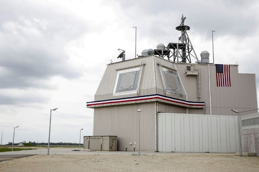 The deckhouse of the Aegis Ashore Missile Defence System at Deveselu air base in Romania on May 12, 2016.