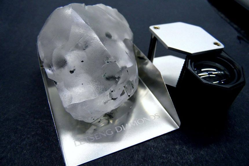 A 910-carat colourless diamond found at the Letseng mine in the southern African kingdom of Lesotho, on Jan 15, 2018.
