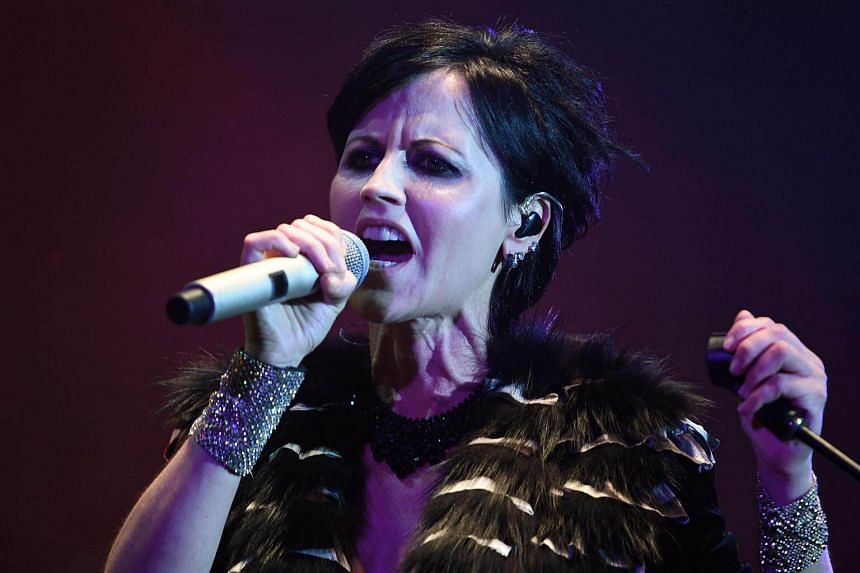 Irish singer Dolores O'Riordan of The Cranberries performing on stage during the 23th edition of the Cognac Blues Passion festival on July 7, 2016.