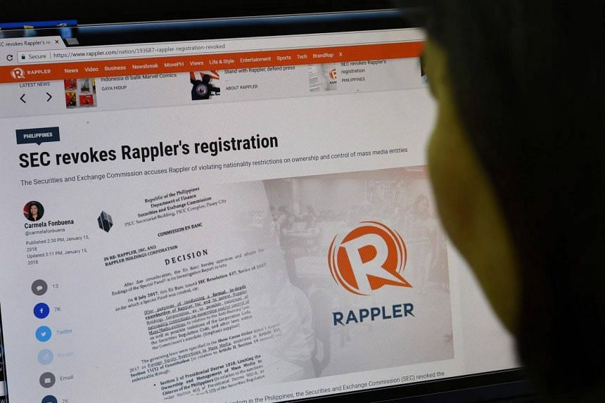 News media service Rappler could be shut down due to ownership violations.