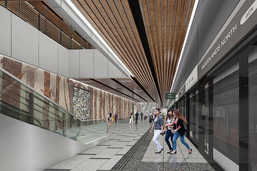 An artist's impression of the interior of the RTS Link Woodlands North station.