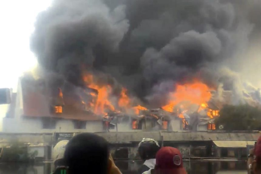 A fire broke out at the Maritime Museum in Jakarta on Jan 16.