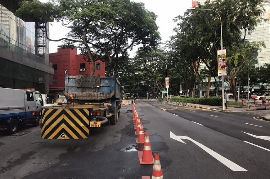 The right three lanes of Somerset Road were opened on Jan 16 morning following the pipe leak.