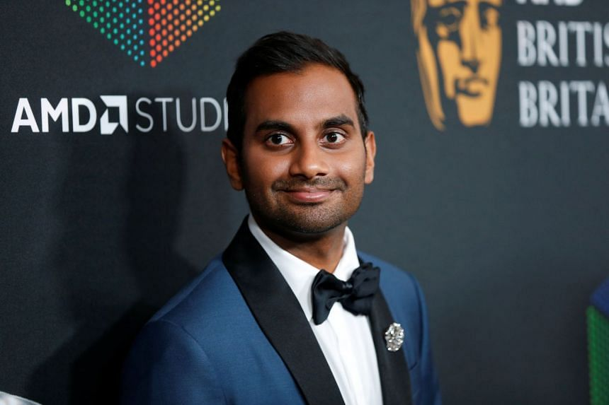 Actor Aziz Ansari poses at the AMD British Academy Britannia Awards in Beverly Hills, California, on Oct 27, 2017.