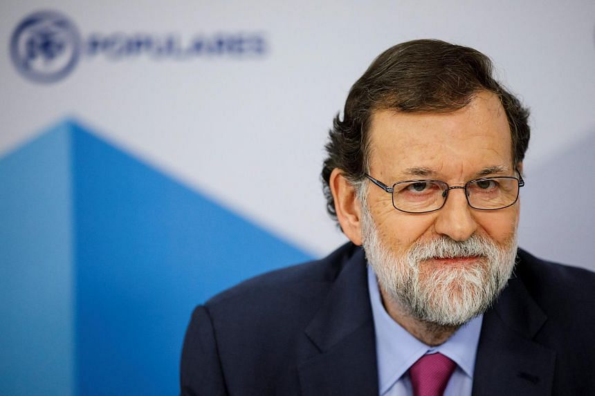 Spanish Prime Minister Mariano Rajoy delivering a speech in Madrid, Spain, on Jan 9, 2018.