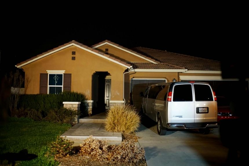 The home where a couple was arrested after police discovered that 13 people had been held captive in Perris California.