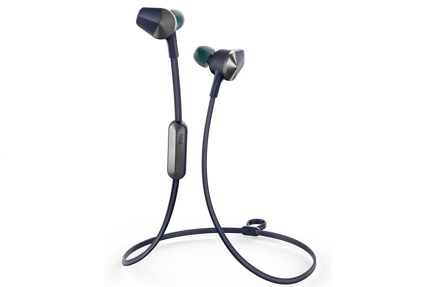 Each Fitbit Flyer earbud has a nice metallic finish and hydrophobic coating for sweat resistance.