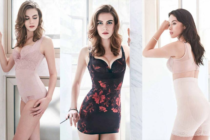 (From left): Long Slimming Corsage and Beauty-Full bra with matching panties; Magic Wire Lily bra and Lily Sensation Bodydress; Shaping bra and High Waist Long Girdle. PHOTOS: HER WORLD