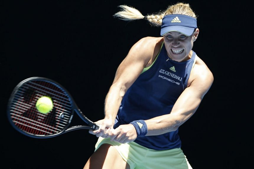 Angelique Kerber (above) sailed into the second round of the Australian Open after beating Anna-Lena Friedsam on Jan 16.