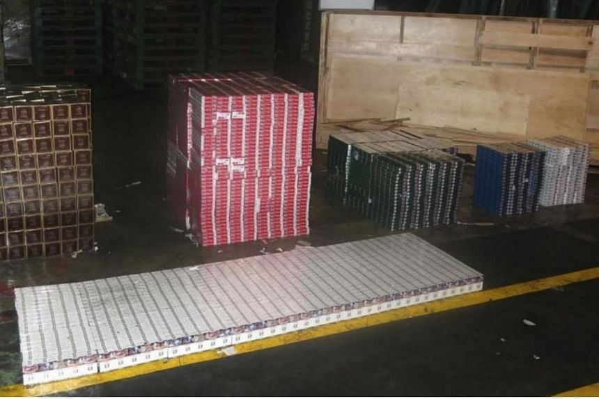"""A total of 3,050 cartons of duty-unpaid cigarettes were seized in a consignment declared as """"machinery parts and accessories""""."""