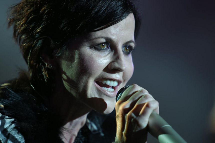 Singer Dolores O'Riordan of Irish band The Cranberries performing on stage during the 23th edition of the Cognac Blues Passion festival in Cognac on July 7, 2016.