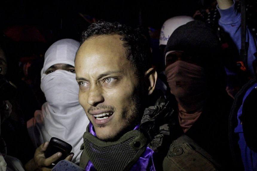Perez (above, in July 2017) was a photogenic ex-police officer who used a stolen helicopter to attack government buildings.