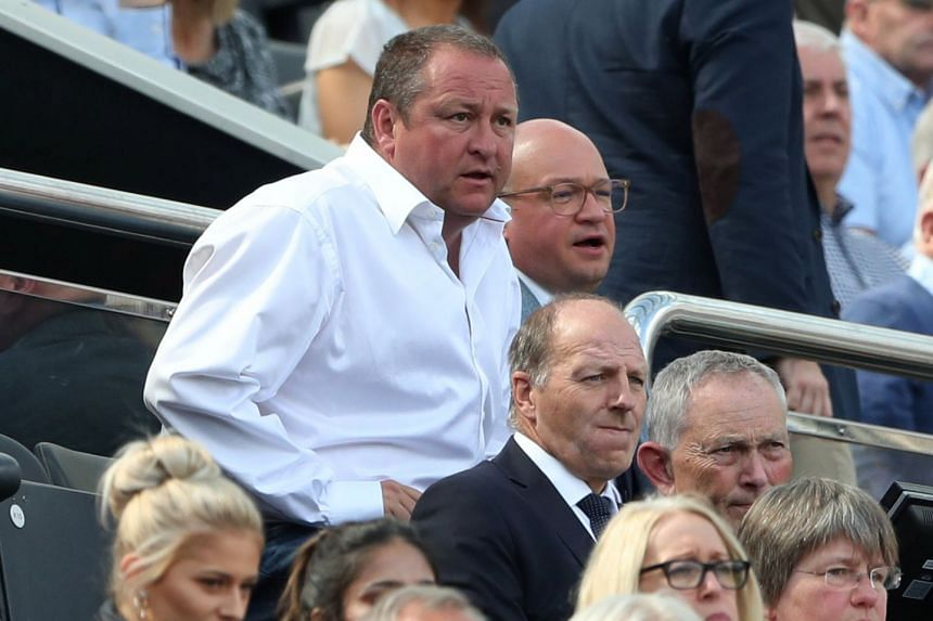 Newcastle United owner Mike Ashley watches a game from the stands in August 2017.