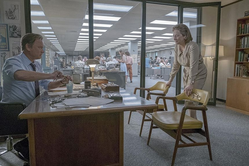 The Post, starring Tom Hanks and Meryl Streep (both above) has been banned in Lebanon because of director Steven Spielberg's associations with Israel.