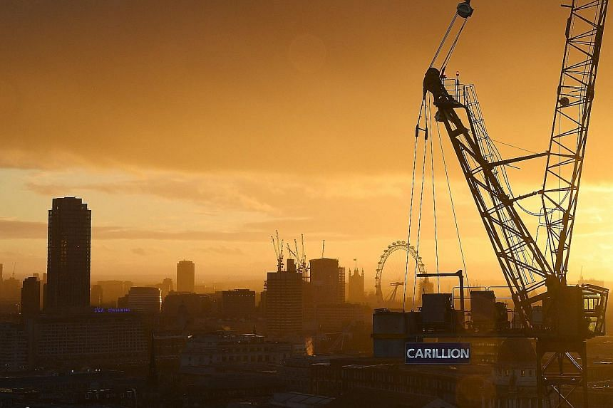 The collapse of British construction giant Carillion, which employs almost 20,000 people in Britain and has a pension shortfall of £587 million (S$1.1 billion), may increase pressure on some of the nation's biggest companies to plug their own fundin