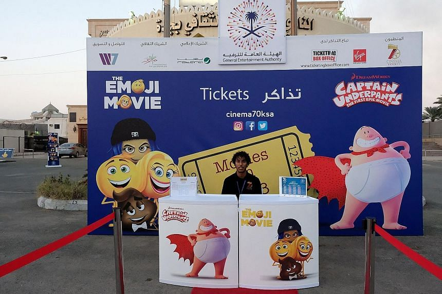 Tickets went on sale at the first Saudi cinema in Jeddah, Saudi Arabia, over the weekend.