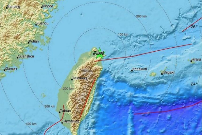 Taipei was hit by a 5.7-magnitude earthquake that struck just east of the island's capital, on Jan 17, 2018.